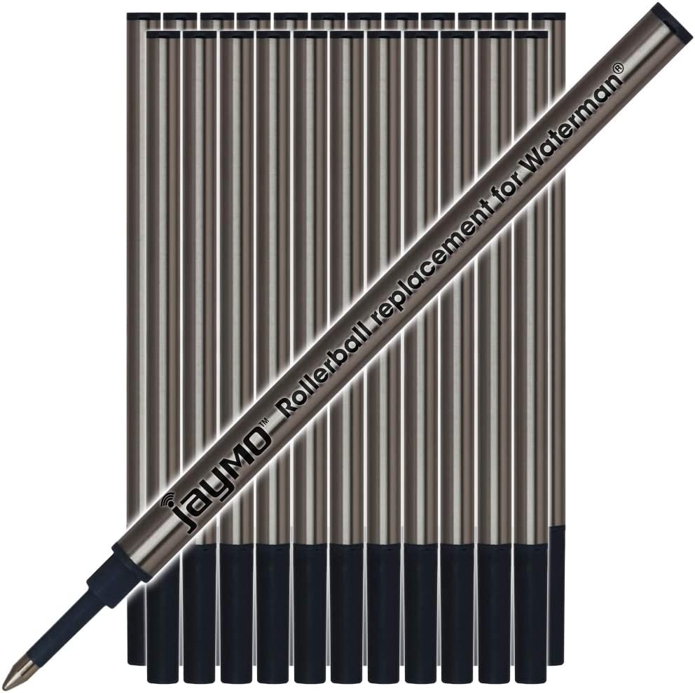 Black Ink NEW  SEALED LOT OF 2 Pack Waterman Rollerball Pen Refill Fine Point