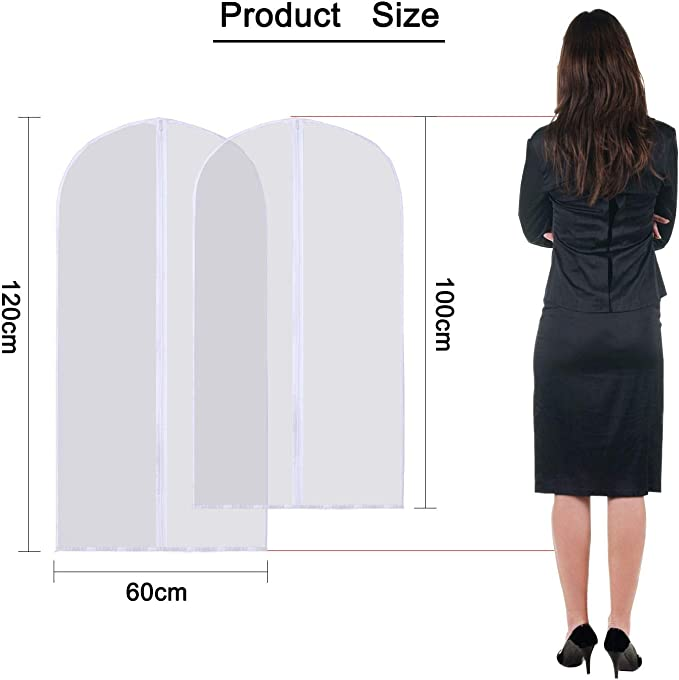 100 Stück Sac de Vêtements Housse la Robe Costume 60x100cm Noir 5,10 25,50