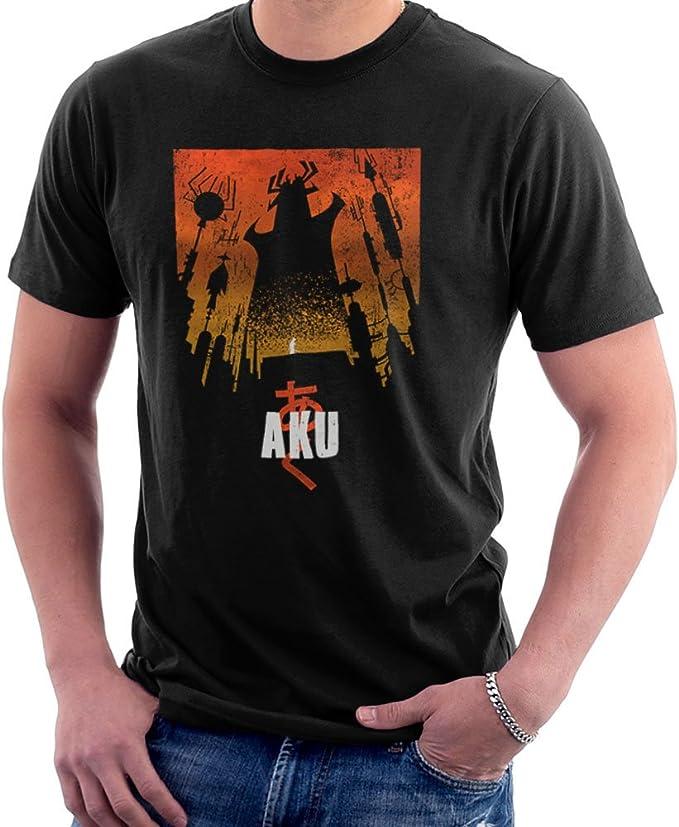Akaiju Samurai Jack Aku Men/'s T-Shirt
