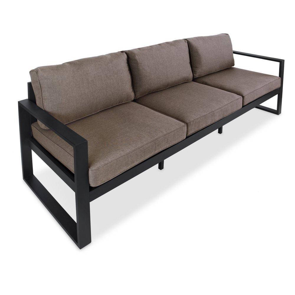 Real Flame 9621-BK Baltic Outdoor Sofa, Black