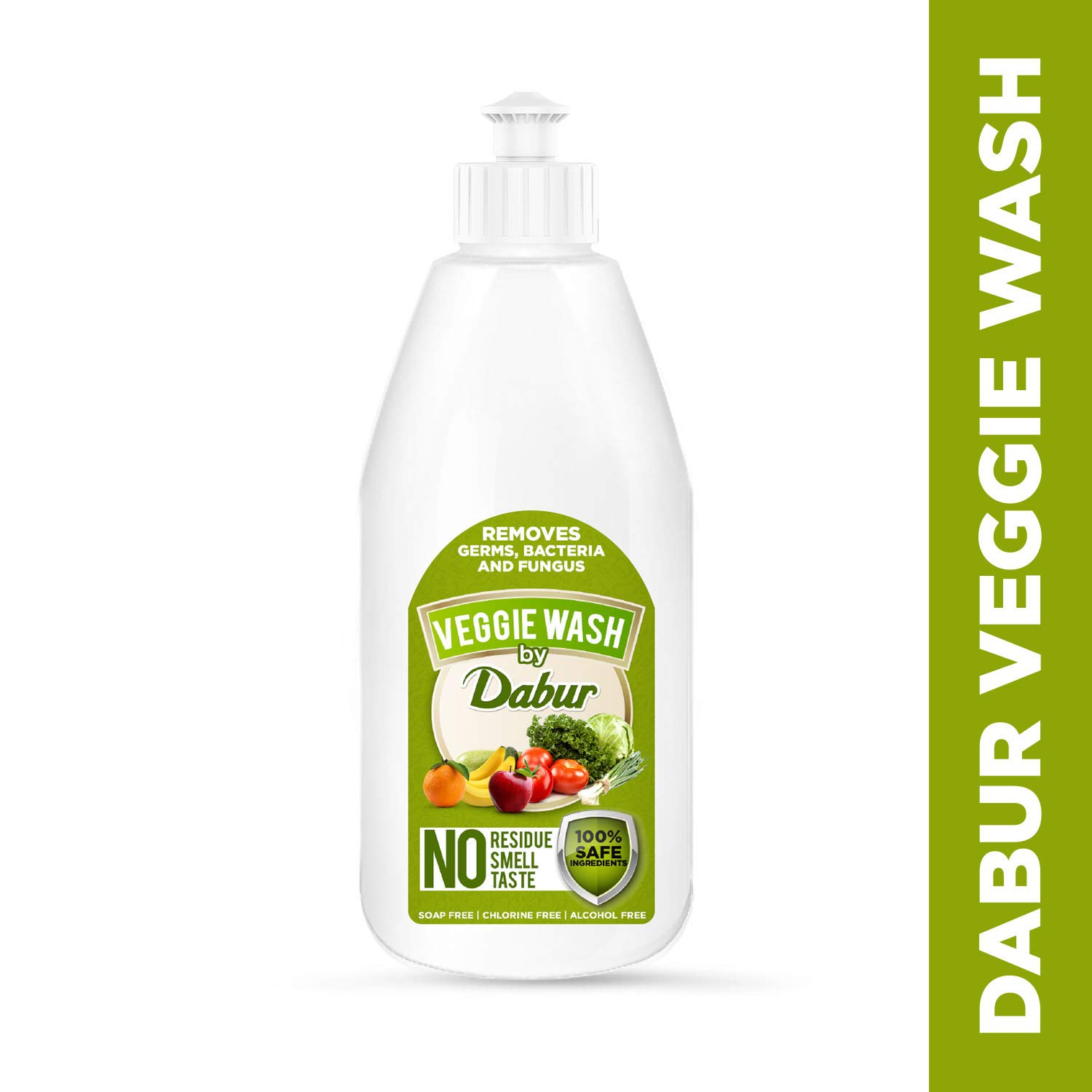 Dabur Veggie wash | Fruits and Vegetables washing Liquid | Removes Germs , Bacteria and Fungus | Contains 100% Safe Ingredients - 500 ml
