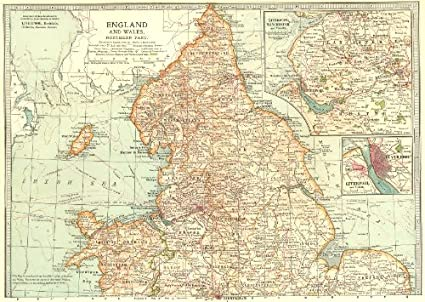 Map Of England And Wales.Amazon Com England Wales N Shows Civil War Of The Roses Barons
