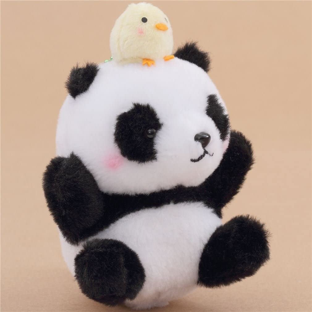 Amazon.com: Pequeño, color blanco y negro oso panda con ...
