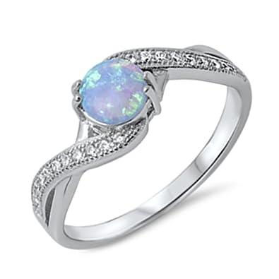 Light Blue Wedding Rings for Women
