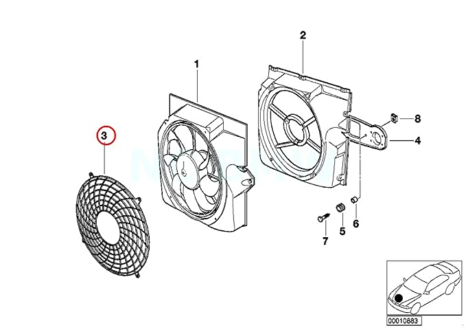 Amazon Com Bmw Genuine Protection Grid F Additional Fan Automotive