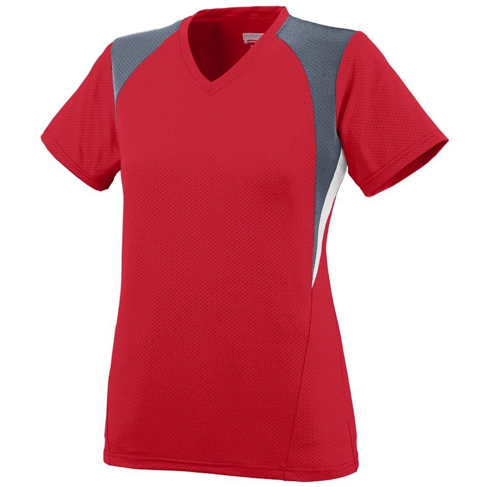 Augusta SportswearレディースMysticジャージー B00JPQ6KB8 Small|red graphite white red graphite white Small