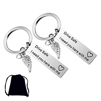 Amazon com : XGuangage 2 Pack Drive Safe Keychains with Wing