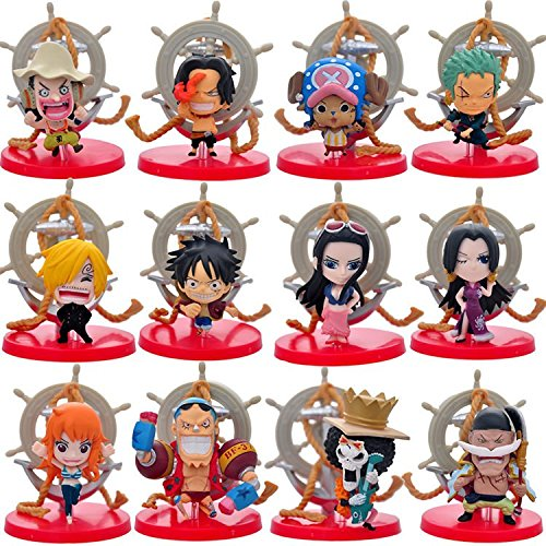 Coz' Place Set of 12 Pieces Mini One Piece Rudder Anchor PVC Figure Collectible Model with Bases (The New World Saga Version)