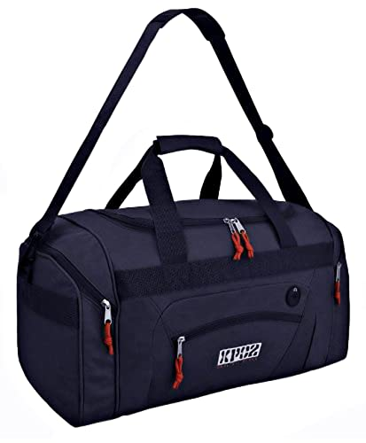 Durable Polyester Multi Pocket Quality Travel Holdall Sports Bag Gym Weekend Navy