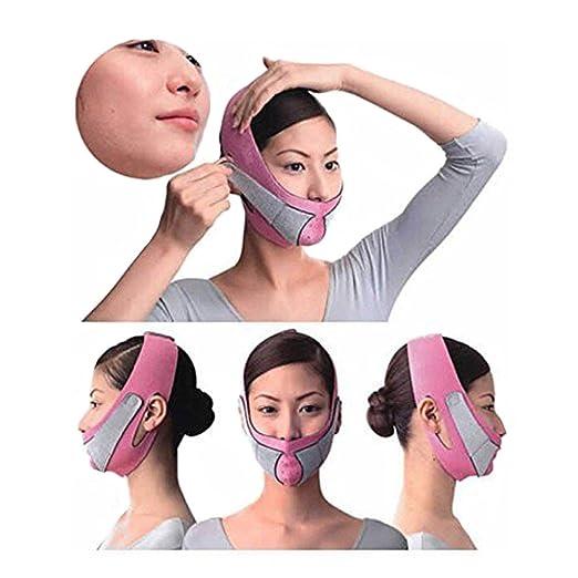 KOLIGHT®Anti Wrinkle Half Face Slimming Cheek Mask Lift V Face Line Slim up Belt Strap(Pink)