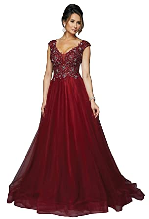 8caf3e41e33 Formal Dress Shops Inc JTD684 Red Carpet Formal Flowy Gown at Amazon ...