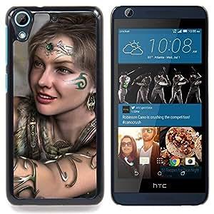 For HTC Desire 626 & 626s - Black Sword Snake Tribal Six Viking Art /Modelo de la piel protectora de la cubierta del caso/ - Super Marley Shop -