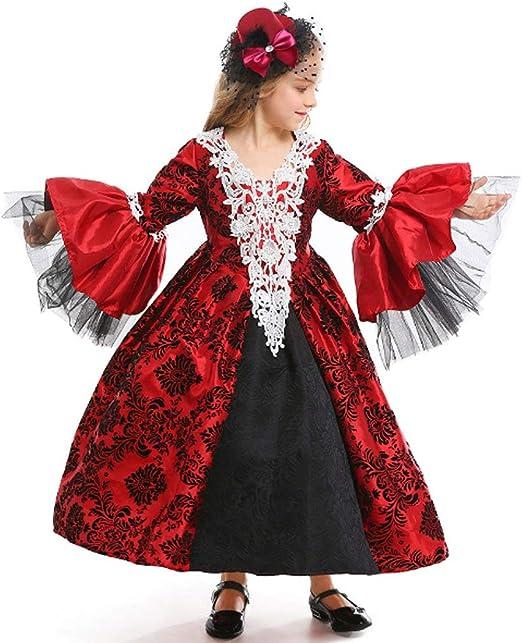 DONGBALA Disfraz De Vampiro Gótico Wind Girl, Vestido Medieval De ...