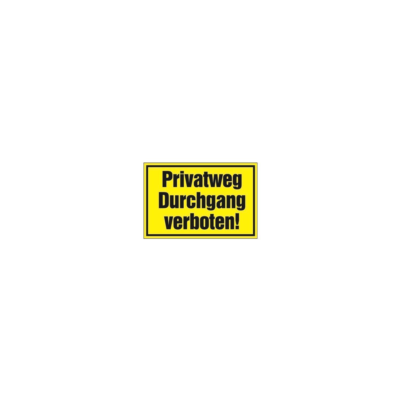 Cartel de Advertencia 25 X 15 CM Privado Camino Paso ...