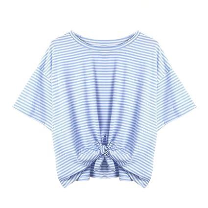 LILICAT® Camiseta a Rayas de Rayas para Niñas Adolescentes 2018 Camiseta a Rayas de Verano