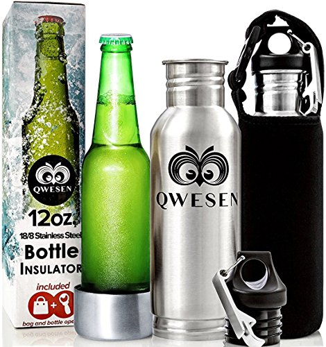 Beer Bottle Cooler By Qwesen Stainless Steel Insulator