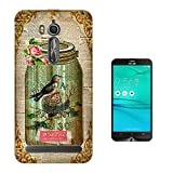 000541 - Vintage Shabby Chic Victorian Bird Nest Floral Roses Asus Zenfone Go ZB552KL CASE Gel Silicone All Edges Protection Case Cover
