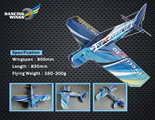(Dancing Wings Hobby RC Plane Radio Remote Controlled Electronic Aircraft EPP Airplane Model Wingspan 855mm 3D Precise Kit with Power System (EPPE-S))