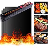 BBQ Grill Mat On'h Non-Stick Grill Mats for Gas Grills / Charcoal Grills / Electric Grills / Ovens, Set of 3