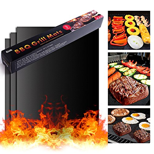 BBQ Grill Mat On'h Non-Stick Grill Mats for Gas Grills / Charcoal Grills / Electric Grills / Ovens, Set of - Ect Gift Certificates