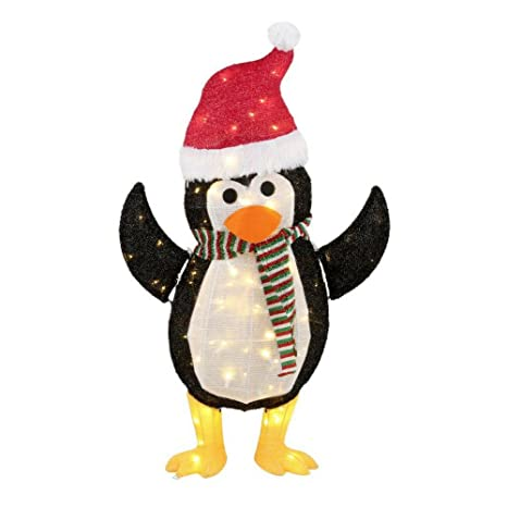 led warm white lighted penguin the perfect addition to your wintertime holiday decor