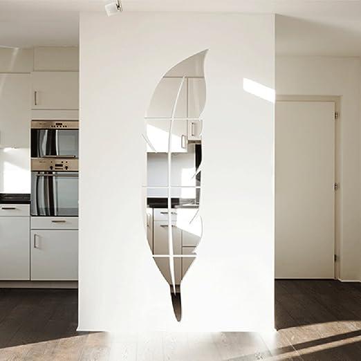 QTT Wand Feder Spiegel aus Acryl 3D stereoskopische Wohnzimmer ...