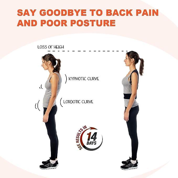 HYX Corrector de Postura Espalda y Hombros para Hombre y Mujer Talla Única - Faja para Dolor de Espalda - Chaleco Corrector de Postura Enderezador de ...
