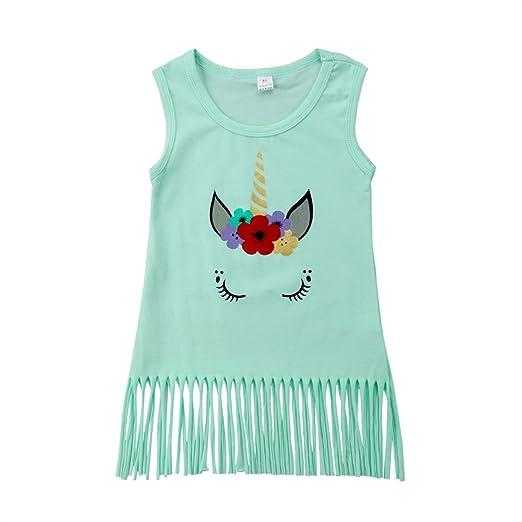 641949859c3b Amazon.com  sweetyhouse White Sleeveless Kids Teen Girls Tassel ...