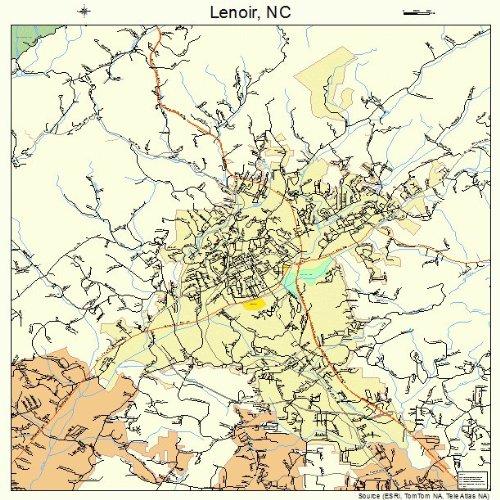 Amazon Com Large Street Road Map Of Lenoir North Carolina Nc