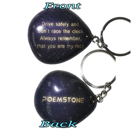 Fathers Day Drive Safe Keychain Engraved Rock,