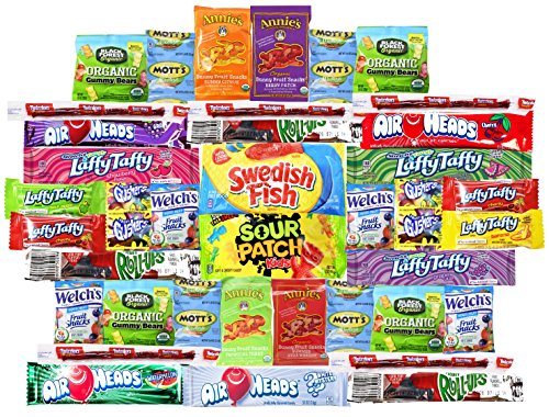 Blue Ribbon Fruit Snacks Variety Pack (40 Count) - Perfect for Schools, Friends & Family, Military and College (Fruit Packages)