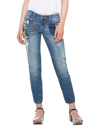 9a943907e Desigual Aloha Skin - Jeans - Droit - Femme
