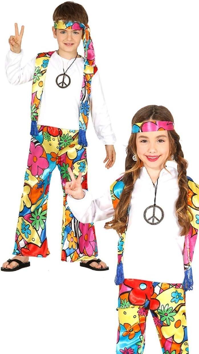 Ragazzi ragazze bambino anni/'60 anni/'70 Hippy Hippie Costume Vestito 2-3 Anni