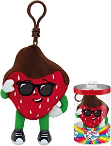 Whiffer Sniffers Danny Dipperelli Chocolate Dipped Strawberry Scented Backpack Clip, 4.5""
