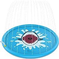 """Jasonwell Sprinkle & Splash Play Mat 68"""" Sprinkler for Kids Outdoor Water Toys Fun for Toddlers Boys Girls Children..."""