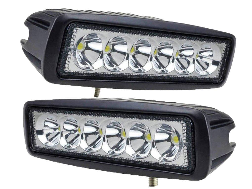 tanli 18W LED Spot Lampe de Voiture Phare de travail LED Feux Diurne lumière de la lumière des phares de Campo A Traves de SUV UTV ATV phares 2pièces