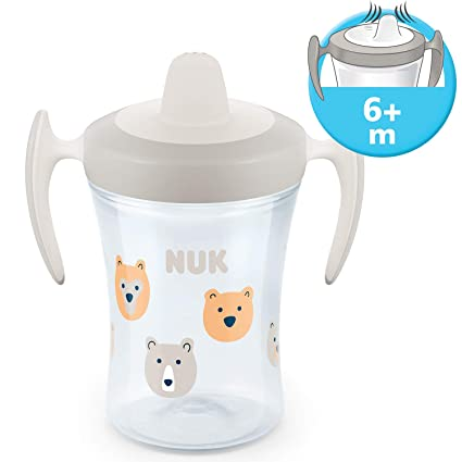 Blue Water Drinking Cup Sippy Cup NUK 8oz Soft Spout Leak /& Spill Proof BPA-free