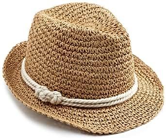 Genie by Eugenia Kim Women's Braid Fedora Hat, Camel/Cream, One Size