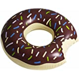 Floatie Kings: Chocolate Frosted Donut Pool Float, Inner Tube, Huge - Brown (Inflatables, Doughnut Float)