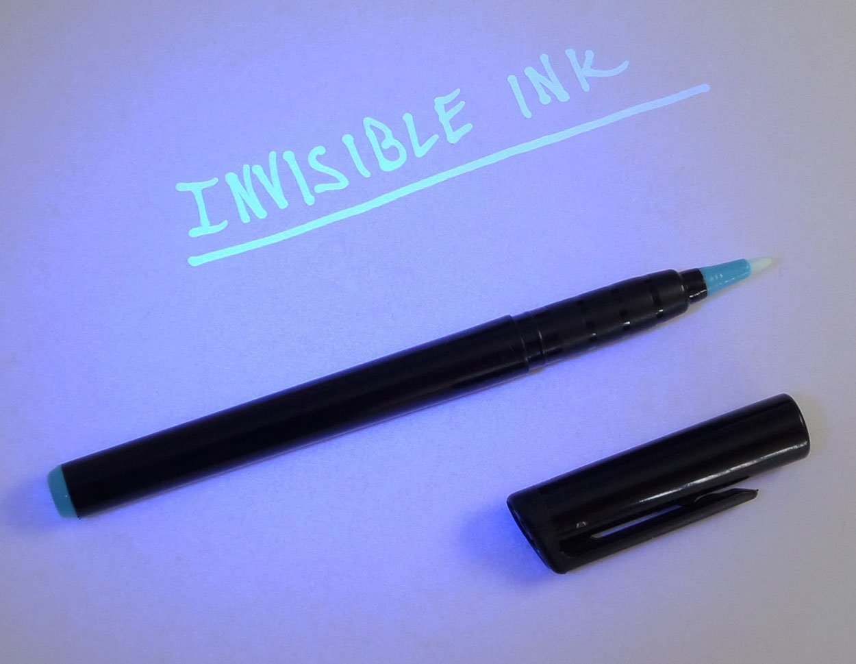 DirectGlow 2 Pack Invisible Blue UV Blacklight Reactive Pen Ink Marker Security Secret Message