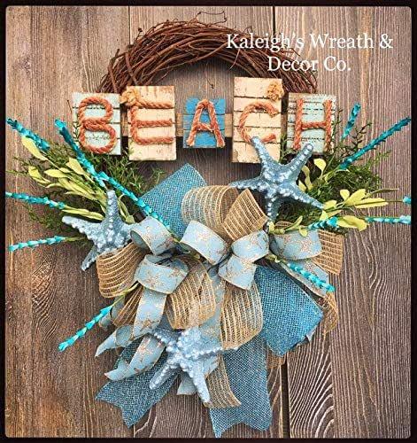 Nautical Wreath Anchor Wreath Beach Wreath Beach House Lake House Summer Wreath Blue White Wreath Beach Grass Front Door Wreath Free Ship