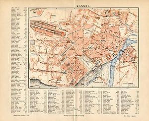 Amazoncom Antique MapKASSELGERMANYCITYLEGENDMeyers - Germany map kassel