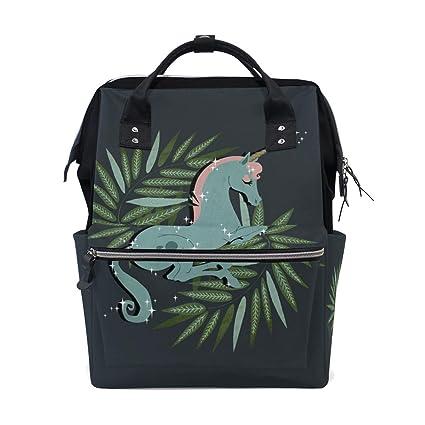 BENNIGIRY Unicornio Saco de dormir multifunción pañales bolsa de pañales mochila bolsa de viaje