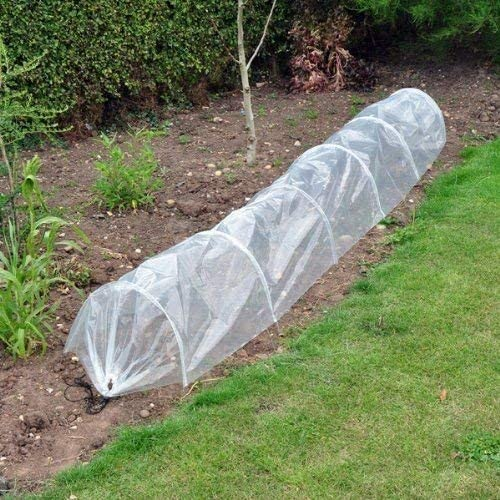 garden mile/® 300 x 45 x 45cm Fleece Garden Grow Greenhouse Poly Cloche Seedling Tunnel For Veg Fruit Plant Growth Frost Protection Planting Station Tent Propagator For Garden Gardening Outdoors