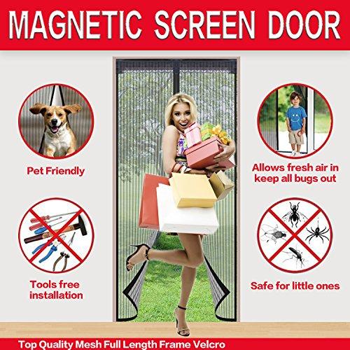 Mysuntown Magnetic Screen Door. Fit Door Size 34