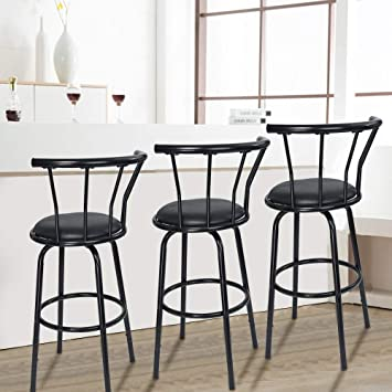 Swell Amazon Com Chenway Bar Stools Swivel With Back Stool Bar Short Links Chair Design For Home Short Linksinfo