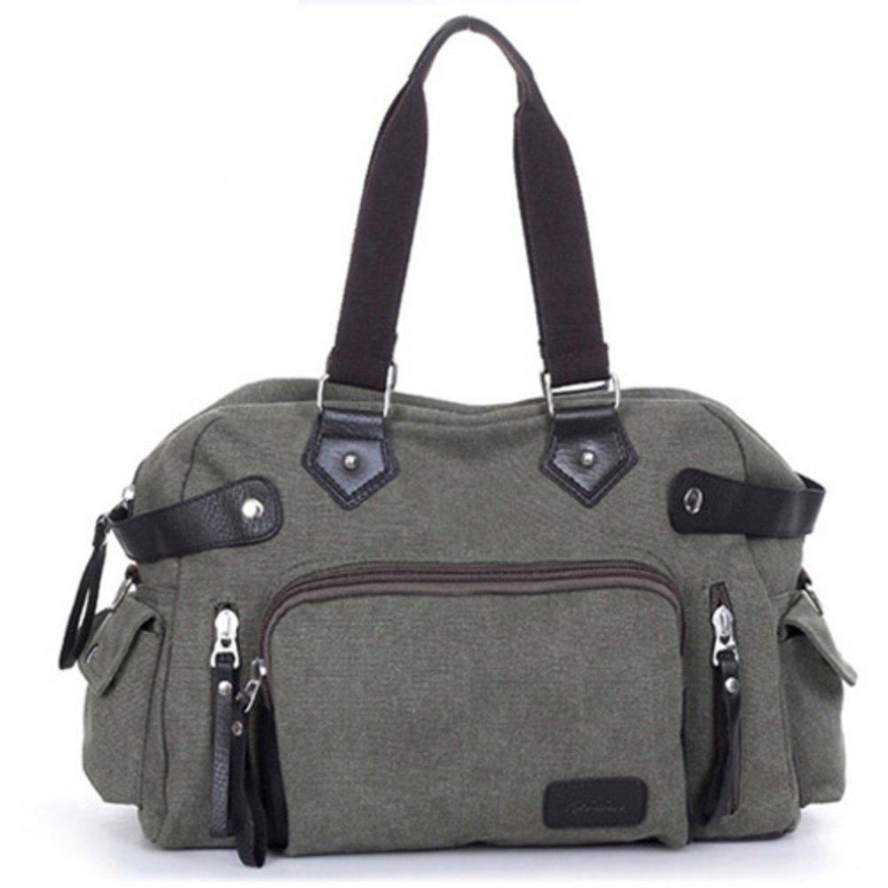 Nclon Männer Handtaschen Canvas canvas Handtaschen Hand taschen ein Umhängetasche Schulter taschen messenger Handtasche Reisen Handtaschen Bewegung-Armee-Grün