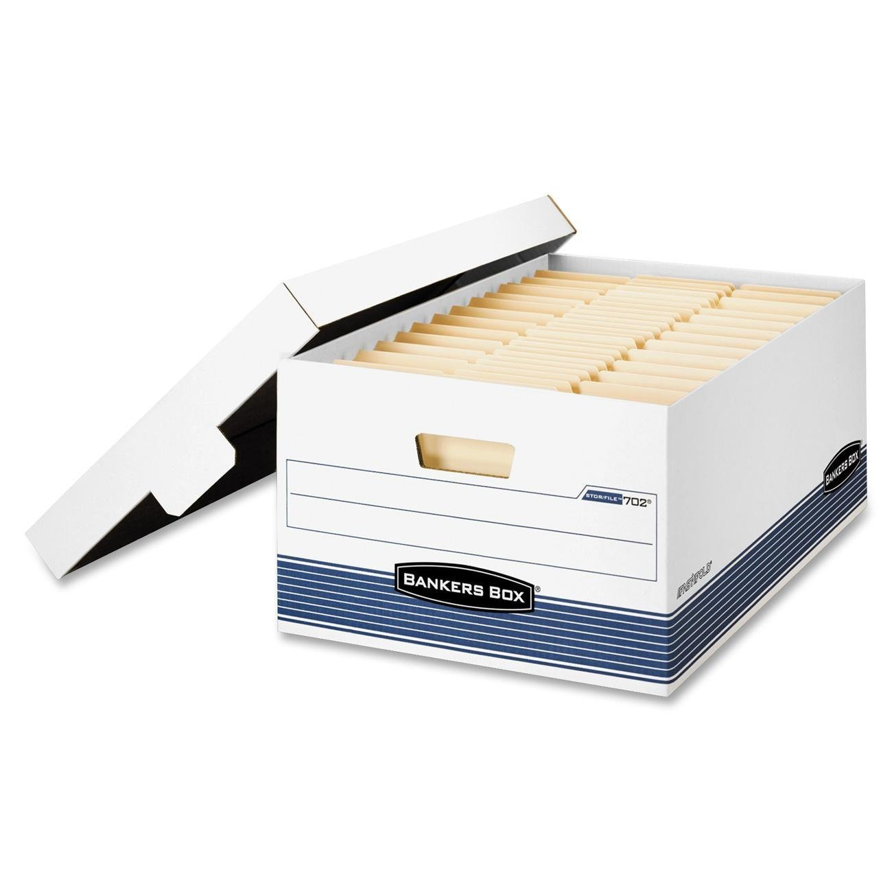 Bankers Box Stor/File Medium-Duty Storage Boxes with Lift-Off Lid, Legal, 12 Pack (00702) (24 PACK)