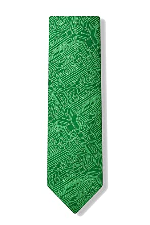 men\u0027s microfiber green computer science circuit board geek necktieElectronic Circuit Neckties #3