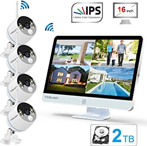 YESKAMO Long Range Wireless Outdoor Home Security Camera System
